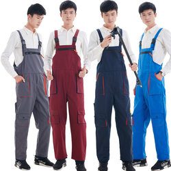 Overalls for men and women, overalls, suspenders, pants, four-season performance, steam engine maintenance and installation