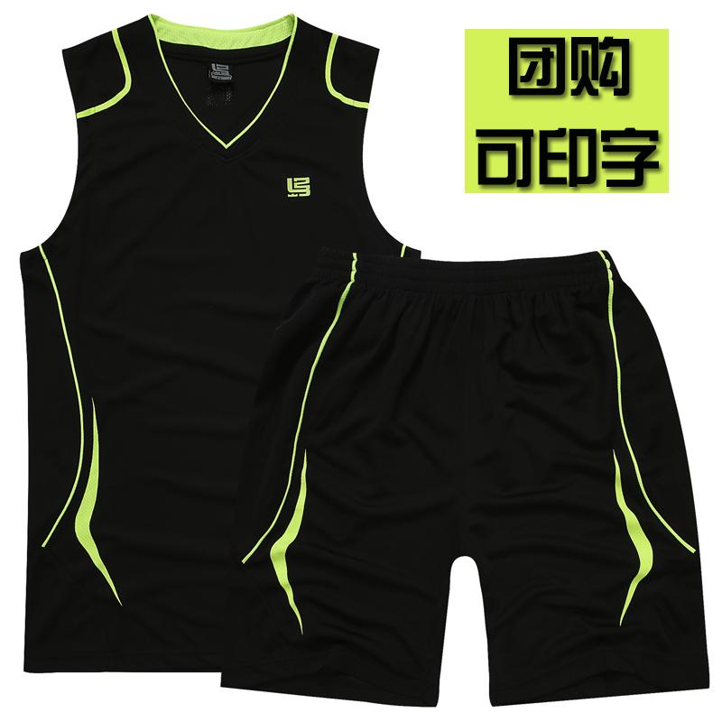 夏季男士大码纯棉宽松背心胖子篮球服休闲无袖衫跑步健身运动套装