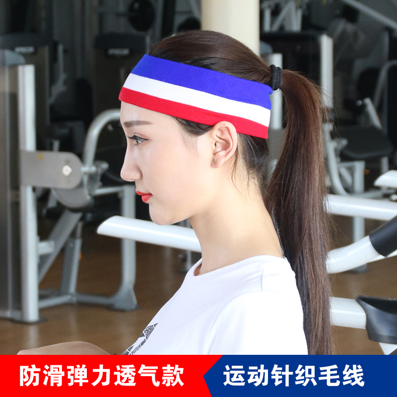 Wash-absorbing sweathead lead set sports knitted wool elastic wide hair band hair band hair wave men's and women's headpiece straps