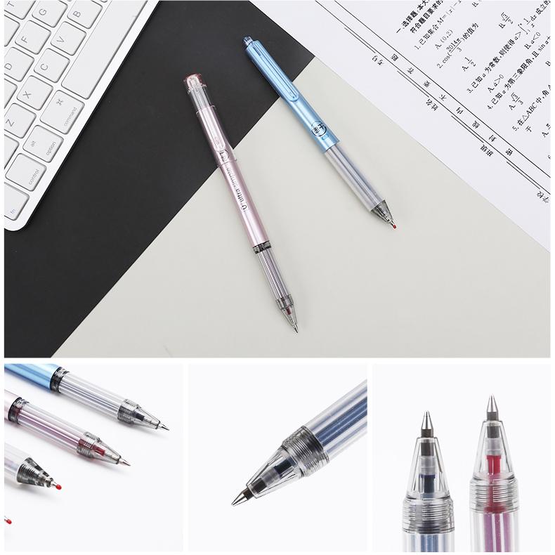晨光文具速干中性笔0.5学生考试水性签字笔10支装 AGPB6701