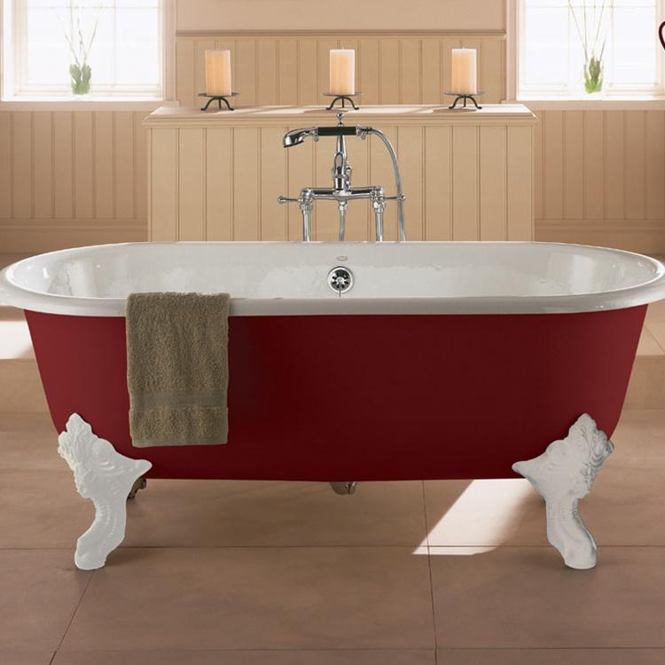sanitary ware K-11195T-0 RF RK RT song Les freestanding cast iron Bath