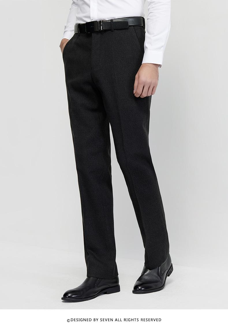 柒 thương hiệu người đàn ông quần của nam giới kinh doanh bình thường thoải mái phiên bản của phù hợp với quần thanh niên thẳng quần dài của nam giới quần overalls