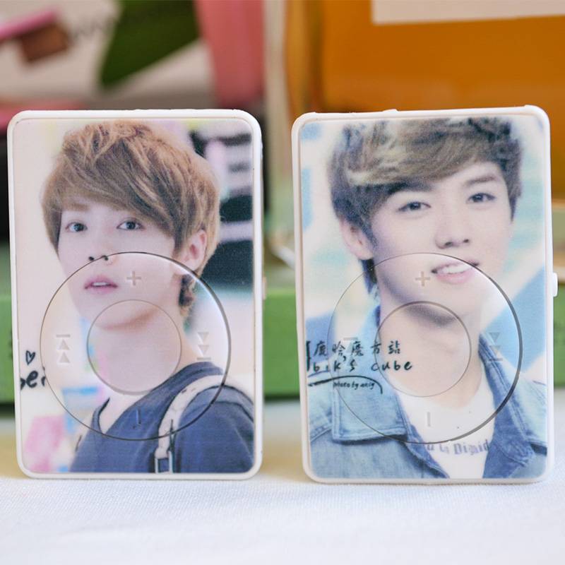 Mini Cartoon Star Anime Small Clip Card MP3 Player Running Sports Listening Song Student Gift