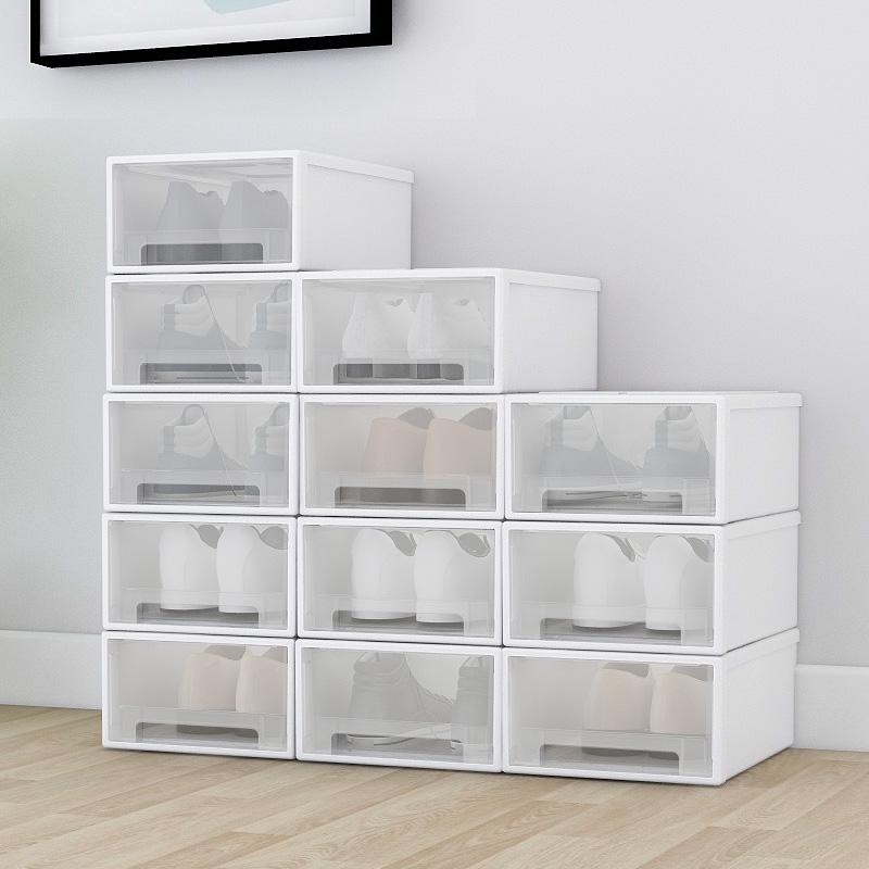【极有家】透明抽屉式加厚鞋柜