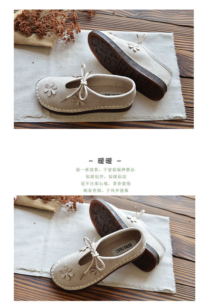 2018 autumn new mori literary retro flat single shoes Japanese suede wild casual shoes classic women's shoes 11