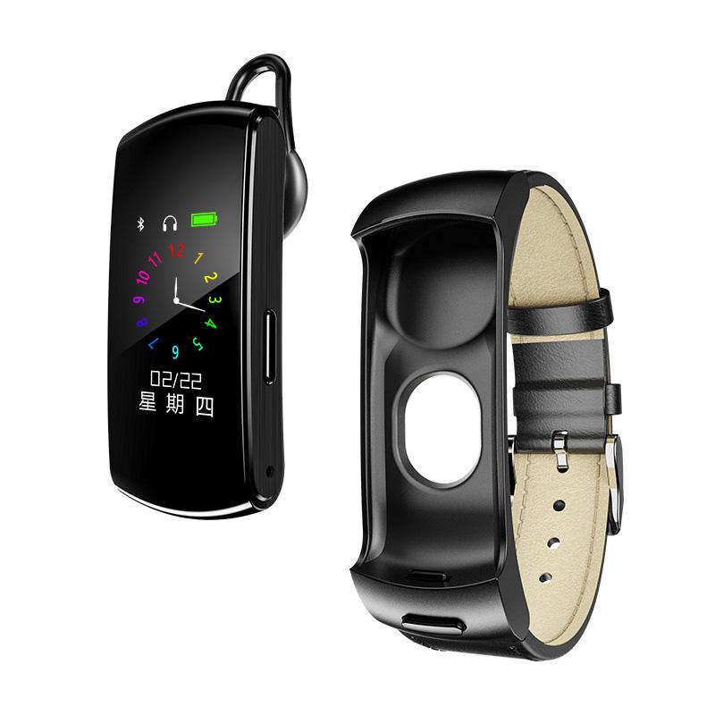 Newman Smart Bracelet Combo Bluetooth Headset Can Call Pedometer Sports Watch Men And Women Rate Pressure Machine Waterproof Huawei Millet Apple Universal Multifunctional Car Car