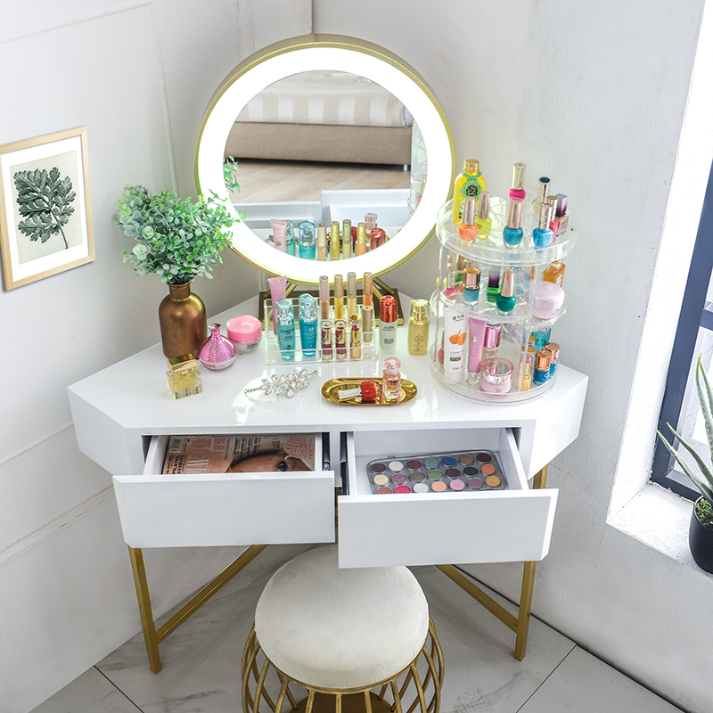 Triangle dressing table dressing table corner bedroom dressing table girl  home small apartment corner desk simple and modern