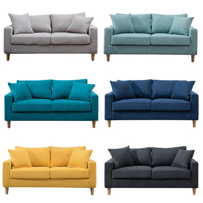 Fabric sofa small apartment living room bedroom modern minimalist double three-person Neio simple rental housing clothing store