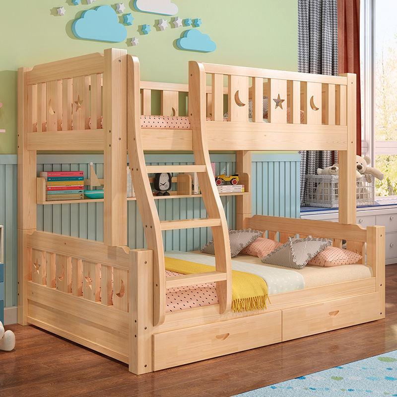 4全实木床上下床成人高低床双人床双层床上下铺子母床儿①童床多功