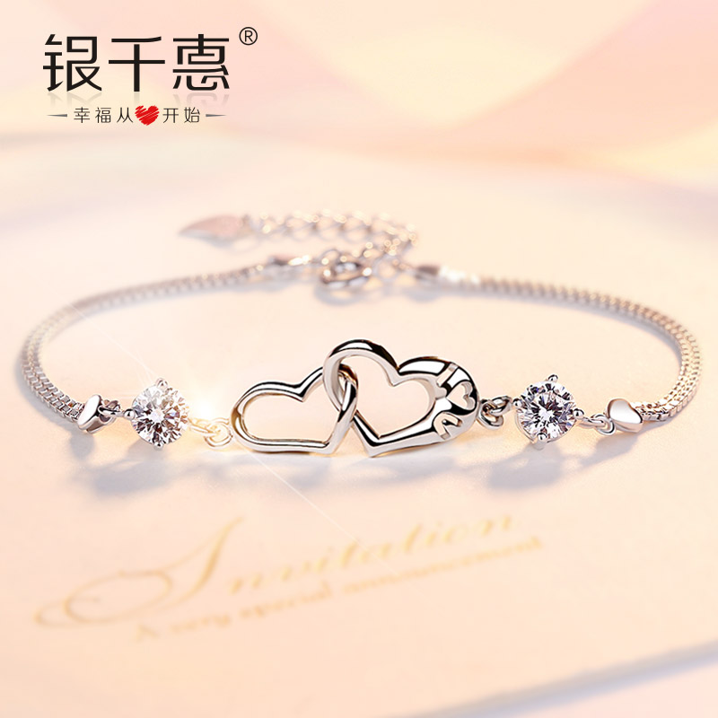Usd 81 09 Sterling Silver Bracelet Female Korean Version Of Simple