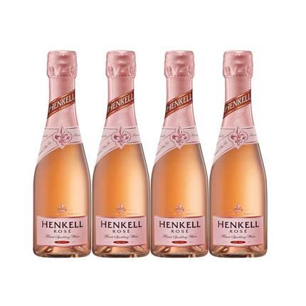 进口汉凯香槟起泡酒半甜型桃红小瓶气泡酒少女葡萄酒晚安酒伴手礼