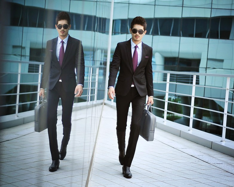 Mùa hè người đàn ông kinh doanh quần thẳng mỏng màu đen phù hợp với quần chân mặc quần áo miễn phí nóng mỏng phù hợp với quần thủy triều