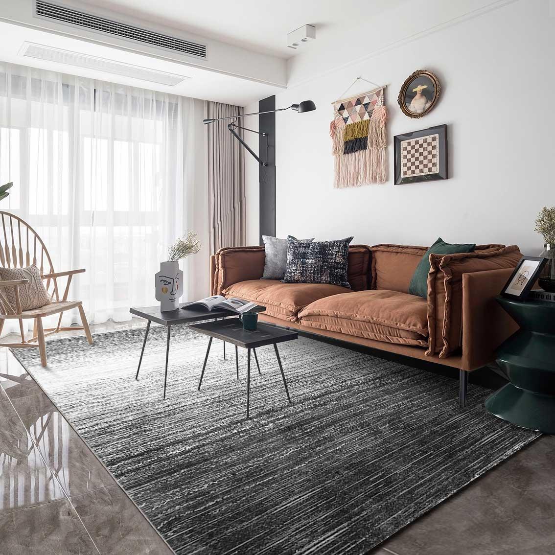 Hiện đại tối giản thảm phòng khách bàn cà phê thảm Bắc Âu thảm phòng ngủ thảm màu xám thảm tùy chỉnh thảm - Thảm