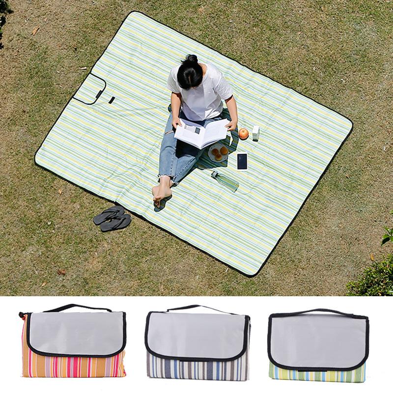 Thảm dã ngoại di động ngoài trời thảm vải ra khỏi thảm chống ẩm có thể gập lại thảm bãi biển - Thảm chống ẩm / Mat / Gối
