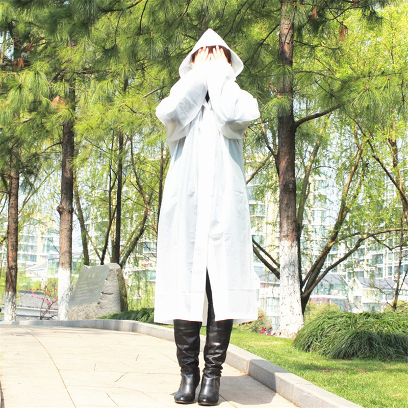 Men Women Transparent Outdoor Travel PVC Waterproof Raincoat Wear Hooded F