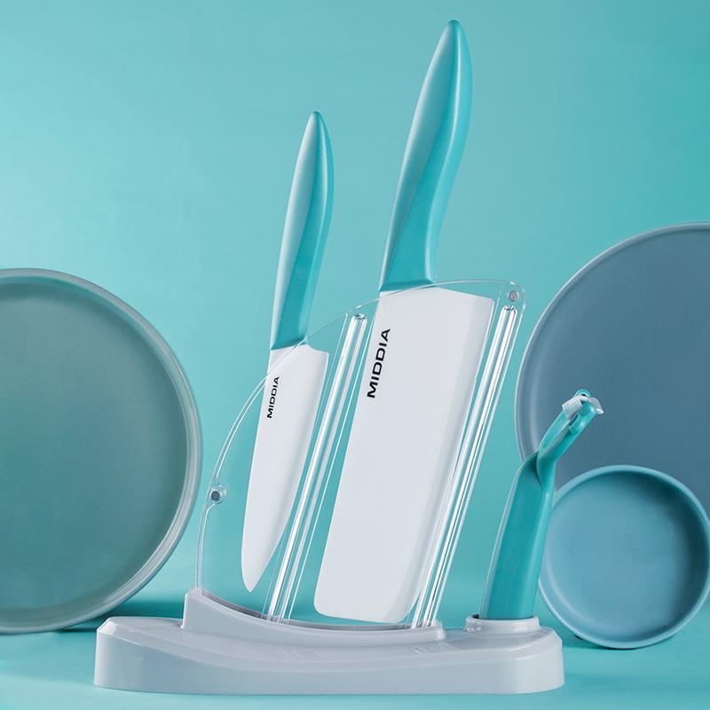 美帝亚陶瓷刀辅食刀具套装厨房菜刀家用宝宝婴儿工具菜板四五件套