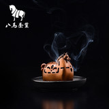 Eight horse tea set Meng pet Ma incense burner copper home indoor aromatherapy furnace for the Buddha drain ornaments sandalwood