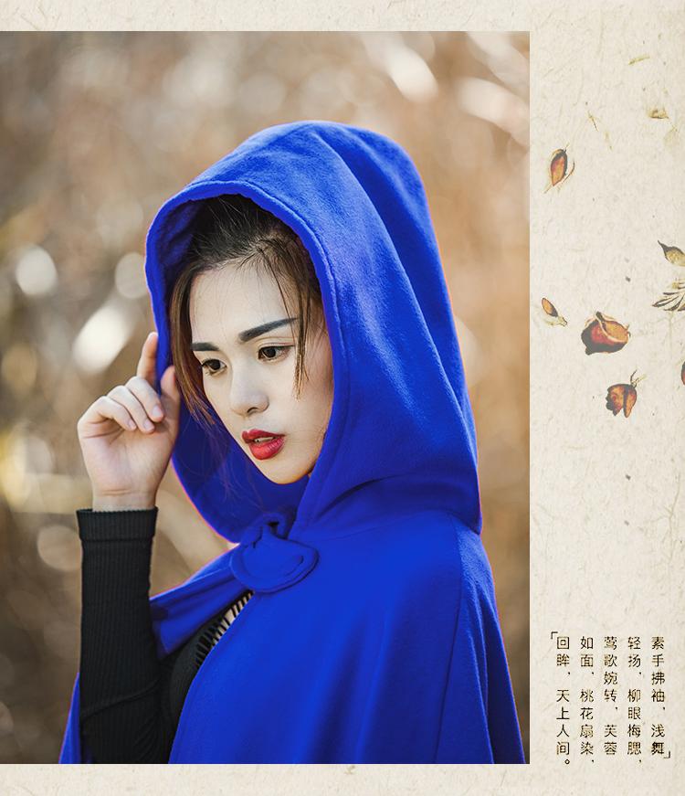 师 辰 无心 师 师 Cổ điển áo len nữ phần dài dày dài mùa đông váy kích thước lớn áo choàng áo choàng nữ