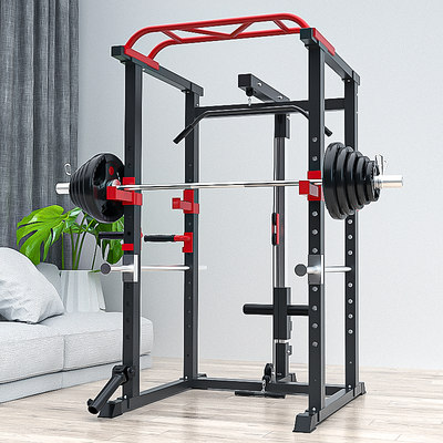Professional multifunctional home deep squat frame gantry fitness barbell rack pushed integrated training equipment