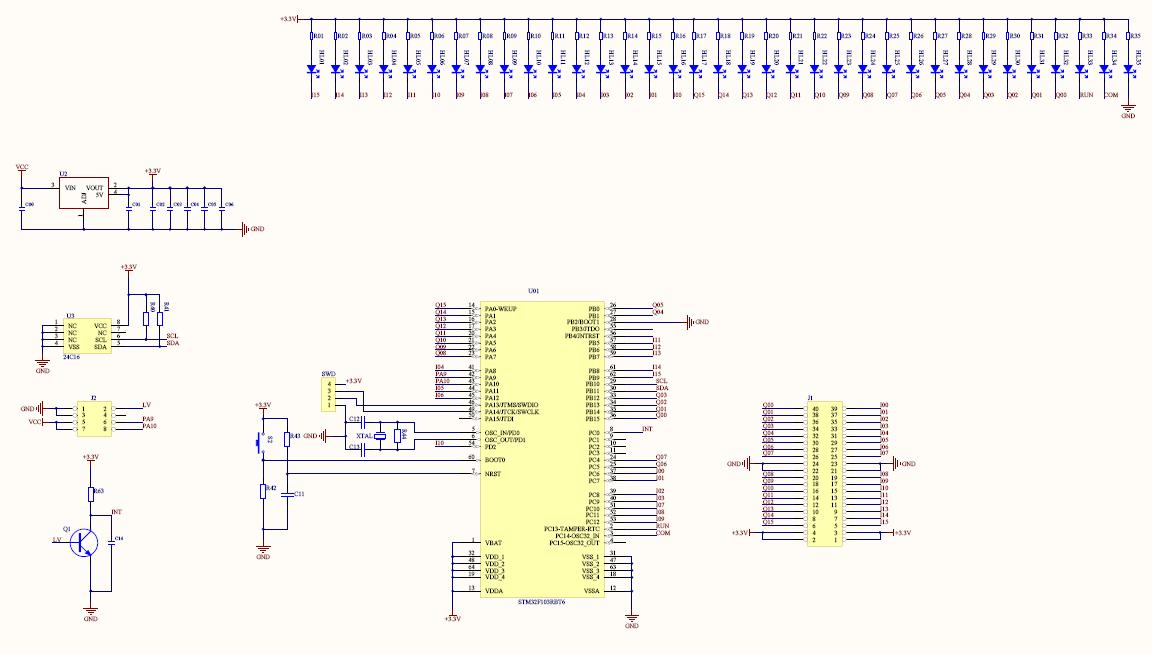 Latest version STM32 Mitsubishi FX2N PLC bottom source schematic
