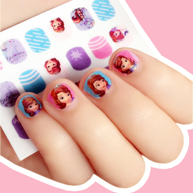 Korean Princess Girl Nail Decal Child Baby Cartoon Nail Sticker Kids ...