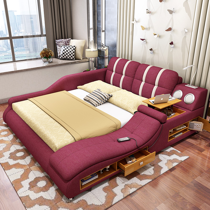 Usd Massage Cloth Bed Tatami Bed Fabric Bed Soft Bed Double Bed 1 8 M Multifunctional
