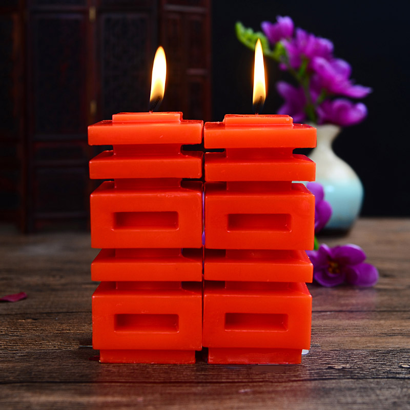 Wholesale wedding wedding supplies Creative wedding cave candle happy word red candle wedding room decoration props