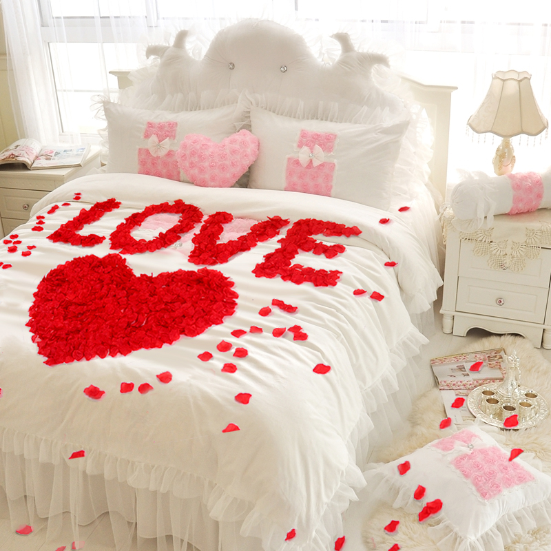 Wedding rose simulation petal Wedding bed sprinkling flower Wedding room decoration creative bedroom package