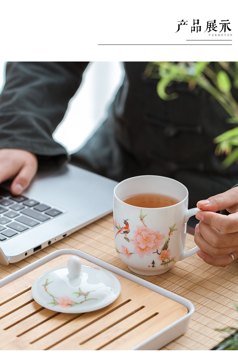 Analyzes the ceramic cups office cup white ipads China cup hotel conference room in the tea cup LOGO customization