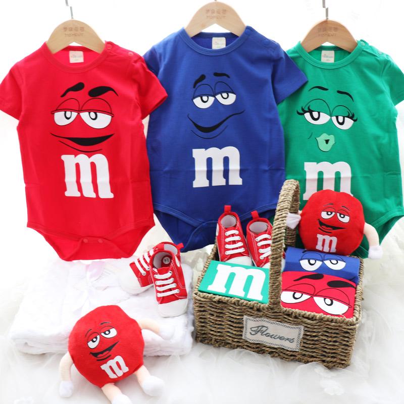 夏款可爱M豆婴儿衣服套装礼盒男女宝宝满月百天礼物婴儿用品礼盒