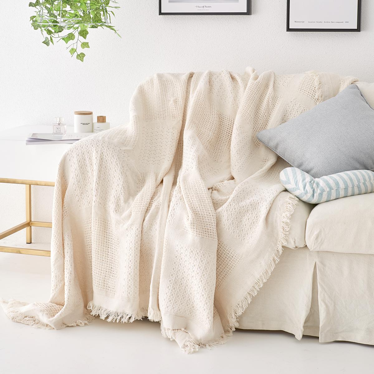 Диван полотенце диван крышка диван хеджирование охрана моно,парный человек линия одеяло полное покрытие скольжение ткань твердый вязание подушки на диване