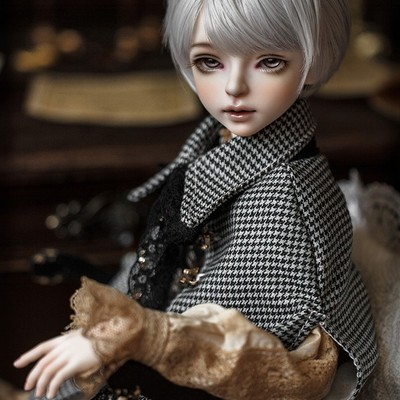 taobao agent 1/4BJD/SD male baby noble style clothes MYOU4 points Kyle official matching shirt vest jacket + wig + shoes