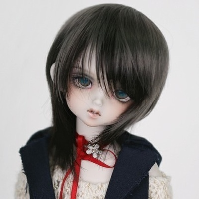 taobao agent 1/6 BJD/SD doll wig 6 points fashionable male/female universal style mixed color short hair imitation baby official hair-FC02