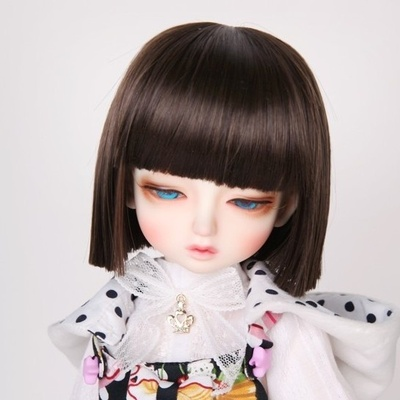 taobao agent 346 points BJD/SD/Little P giant baby doll wig lady all-match two dao flat shoulder short hair-FC12