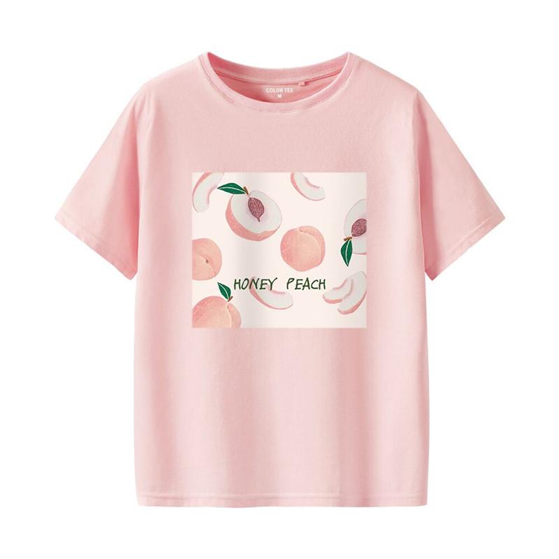2件】粉色短袖t恤女裝純棉2020年新款夏季衣服寬松大碼半袖上衣潮
