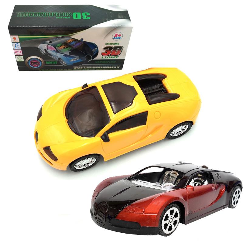 儿童灯光音乐万向轮电动玩具跑车