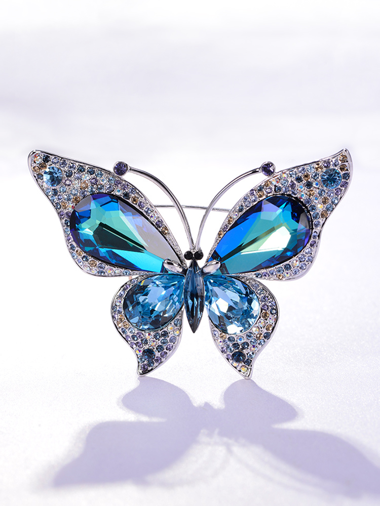 Coat brooch Women's high-end corsage luxury temperament wild atmosphere big butterfly pin suit accessories fashion