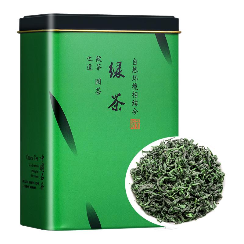 绿茶茶叶2021新茶春茶高山云雾非毛尖茶浓香散装罐装日照充足木冠