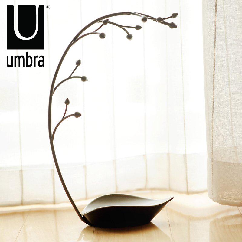 umbra创意首饰模特架公主兰花展示架礼物饰品耳环架时尚礼品项链