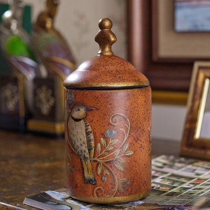 美式陶瓷摆件储物收纳罐