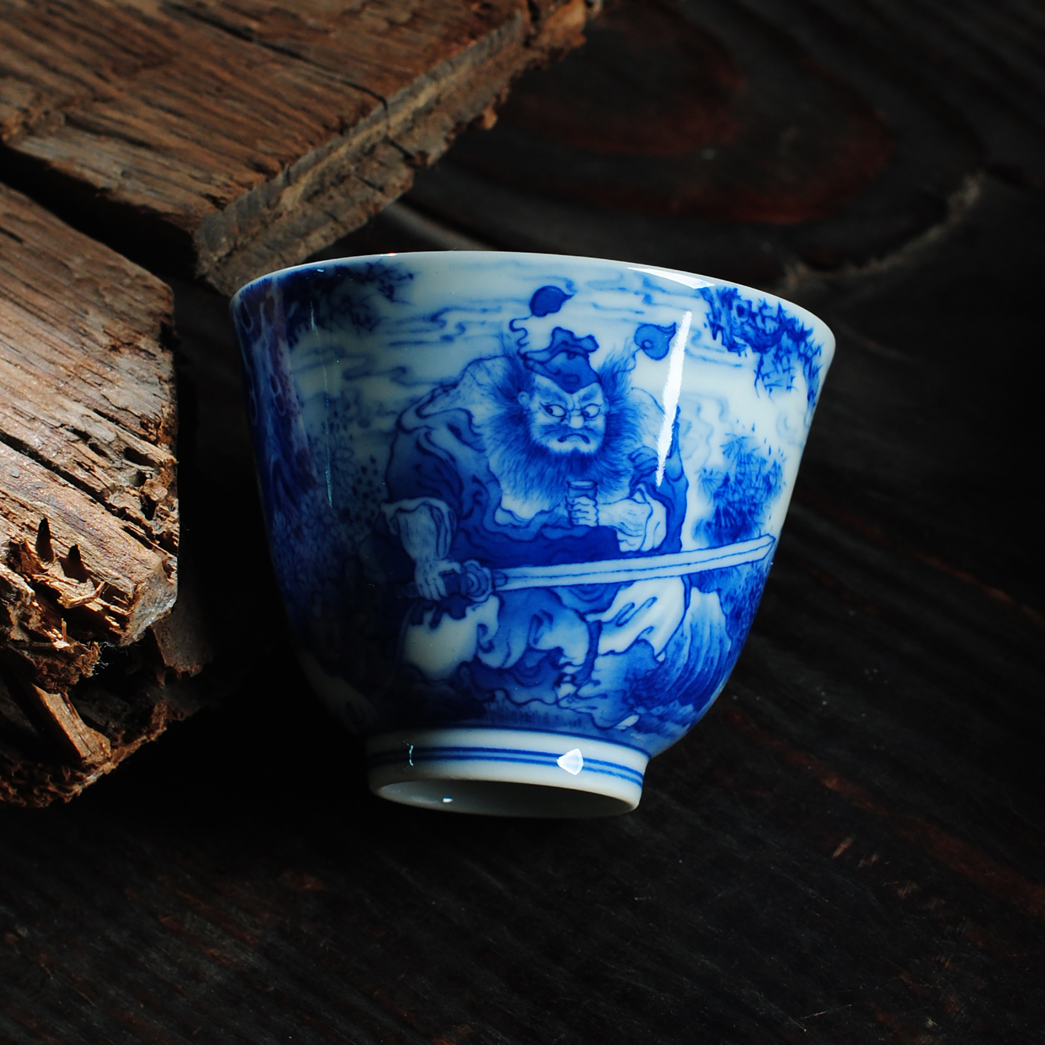 The Owl up jingdezhen hand - made porcelain tea set characters informs the fine checking ceramic masters cup single CPU