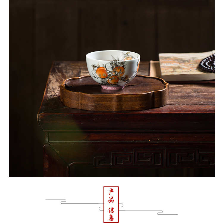 The Owl up jingdezhen tea set manually red hand - made ceramic kongfu master cup alum live antique porcelain cups