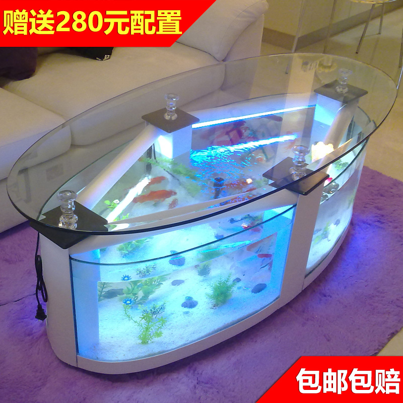 Usd 42 77 Ultra White Glass Creative Turtle Tank Eco Circular Fish Tank Aquarium Medium Sized Living Room Rectangular 1 Meter Coffee Table Wholesale From China Online Shopping Buy Asian Products Online From The