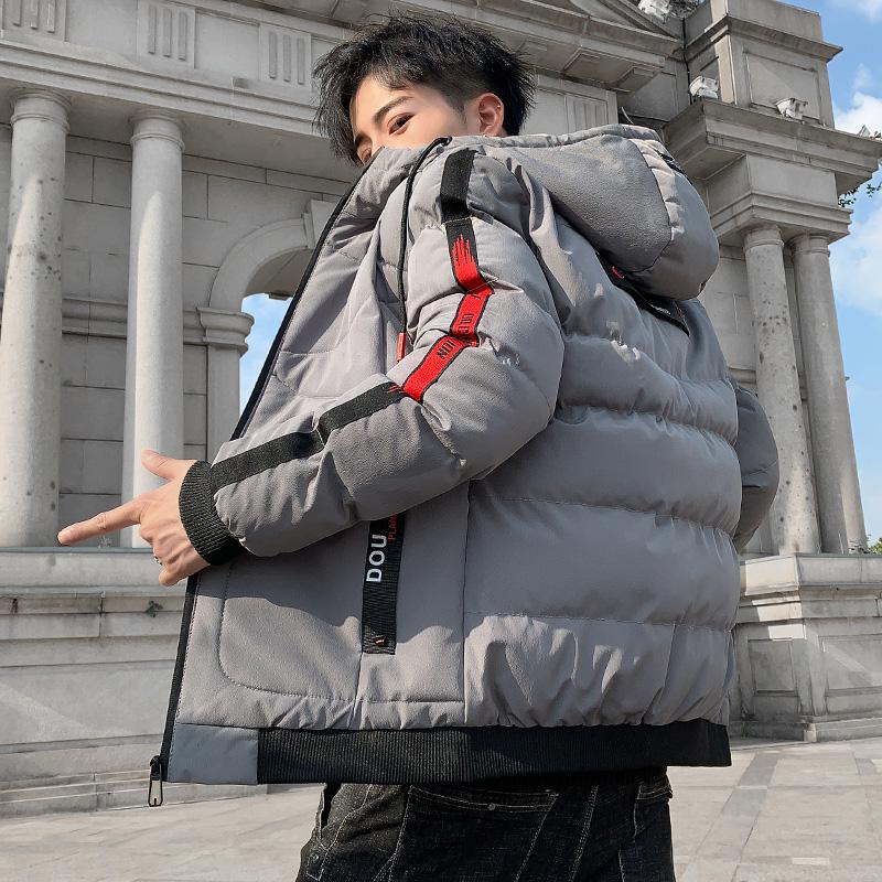 秋冬棉衣男百搭潮连帽棉服外套