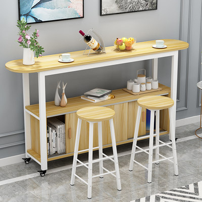 Table table home small apartment living room partition mobile cabinet small bar table high table kitchen operator storage