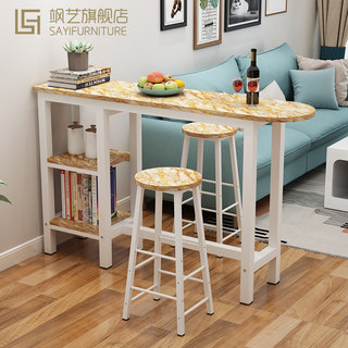 High wall Bar tables minimalist modern living room kitchen table and chairs sets of small home bar cut off tall tables