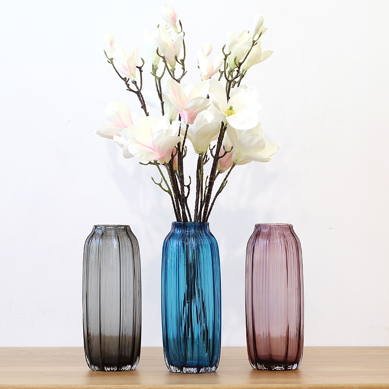 Usd 3474 European Color Glass Vase Transparent Dried Flowers Vase