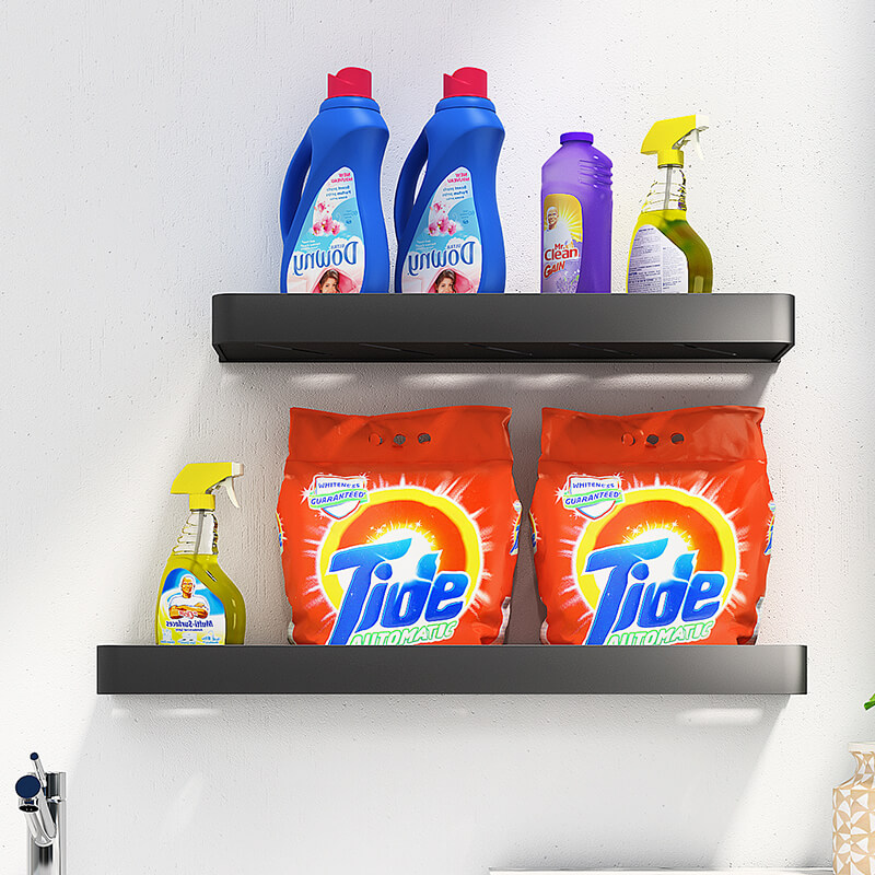 Toilet rack bathroom washing machine punch-free toilet toilet towel storage shelf wall-mounted wall