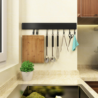 Wall-free kitchen rack wall hanging wall spoon shovel hanging wall hanging hook cooking kitchen storage rack