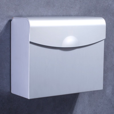 Punch-free tissue box space aluminum toilet waterproof hand box toilet bathroom tissue holder straw paper box toilet paper box